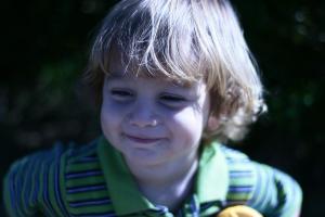 Alex grinning